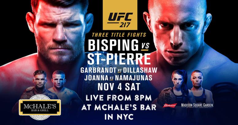 Watch UFC 217 | McHale's Bar N...