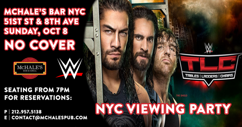 WWE TLC | NYC Viewing Party | Live at McHale's Bar New York City